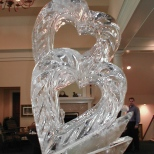 Double Hearts Ice Sculpture
