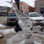 """Big Bad Wolf"" Ice Sculpture"