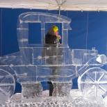 Ice Sculpture of Car