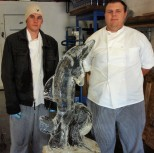 Ice Carving Students