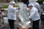 Students Sculpting Ice