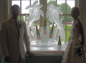 Ice Sculpture Champagne Display