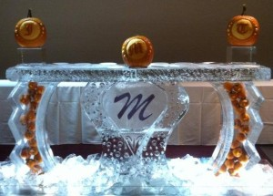Ice Bar with Monogram Pumpkins