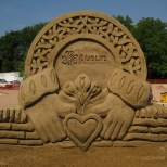 Sand Sculpture for Dublin Irish Festival