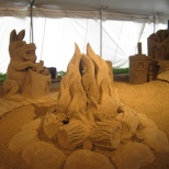 Sand Sculpture of Fire Pit