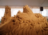Sand Sculpture of Lion and Mice