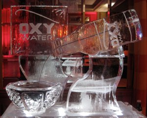 Fountain Ice Sculpture for Oxy Water with Logo