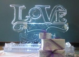 Love Ice Sculpture 2014