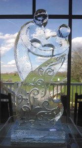 Wedding Ice Sculpture Shared-Hearts 2014