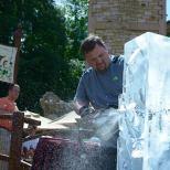 Ice Sculpting Show with Greg Butauski, Food Artist Group