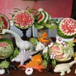 Dinosaur Display by Greg Butauski and Dean Murray, Food Artist Group