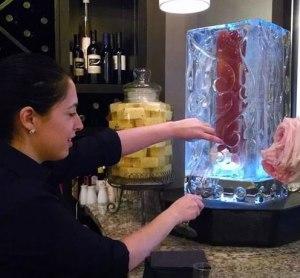Beverage Dispenser Ice Sculpture