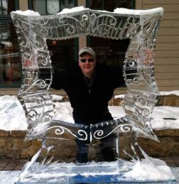 Winter Festival Ice Frame with Photo Opportunity