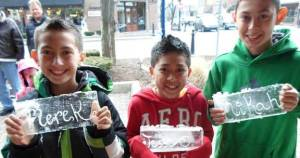 Ice Festival Kids Names in Ice