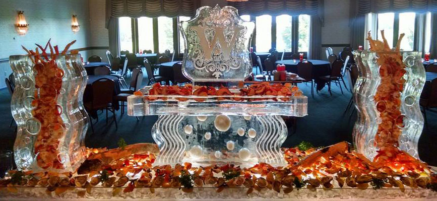 Image result for elegant food with ice sculptures