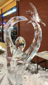 Peace-and-Love-Ice-Sculputure-Dove