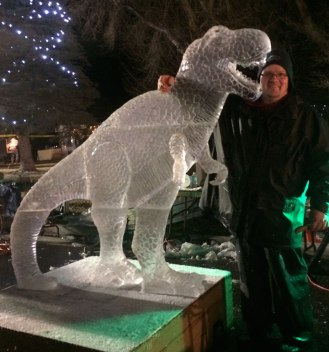 T-Rex-Ice-Sculpture-Green-River-Competition