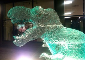 T-rex-Ice-Sculpture-Head