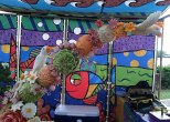 Fruit-Carving-SeaWorld-Texas-Arc-of-Birds-and-Melons