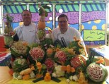 Fruit-Carving-SeaWorld-Texas-Dean-and-Greg-Birds-and-Melons