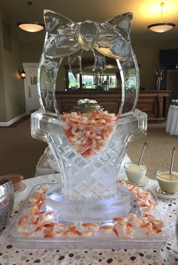 Easter-Ice-Sculpture-3D-Basket-with-Shrimp