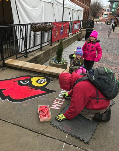 Chalk-Drawing-Cardinals-Logo-Greg-and-girls